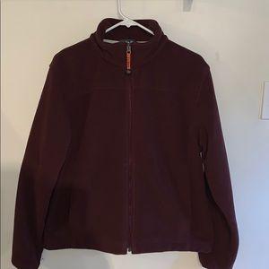 L.L. Bean woman's fleece jacket sz L Maroon
